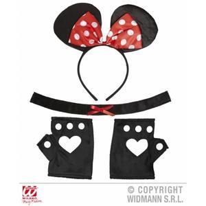 Mouse Fancy Dress Kit Set Costume - Ears Choker & Gloves