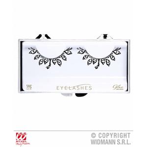 Ladies Black Fashion Eyelashes With Tatoo Detail & Glue