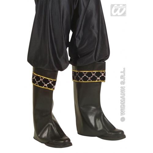 Leather Look Pirate Bot Tops Jack Sparrow Bucaneer Fancy Dress