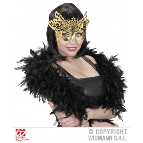 Gold Venetian Mask Masquerade Ball Fancy Dress Accessory