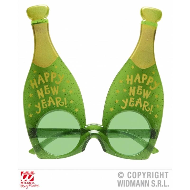 Happy New Year Champagne Bottle Glassses Novelty Fancy Dress Sunglasses