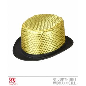 Adult Gold Sequin Top Hat Show Girl Burlesque Circus Girl Fancy Dress