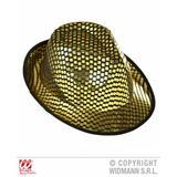 Gold Sequin Fedora Trilby Hat Show Girl Hen Night Fancy Dress Prop