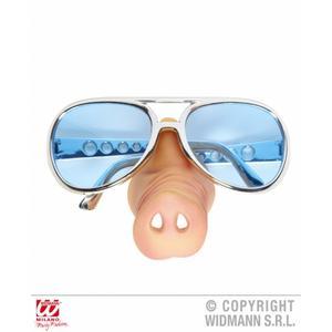 Funny Policeman Copper Pig Joke Fancy Dress Set Sunglasses & Pig Nose Kit