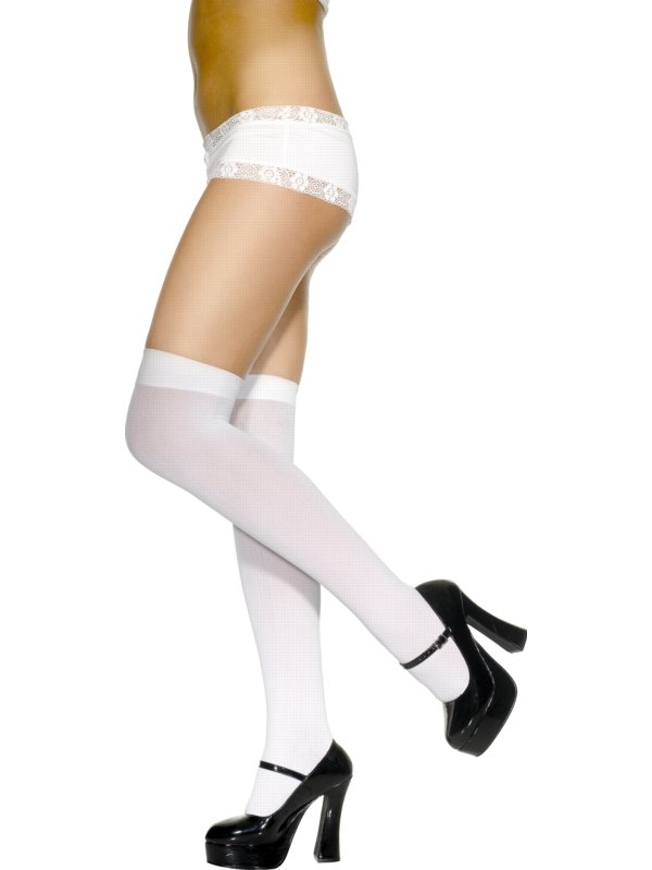 592572e70 Sentinel Sexy White Over Knee Stockings School Girl Tights Socks
