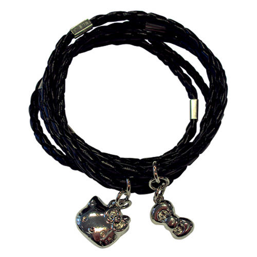 Hello Kitty Hi Shine Black Bangles Fashion Accessory Jewellrey