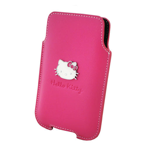 Hello Kitty iPhone 3G/3GS/4G/4S Mobile Phone Pouch - Pink With White Kitty