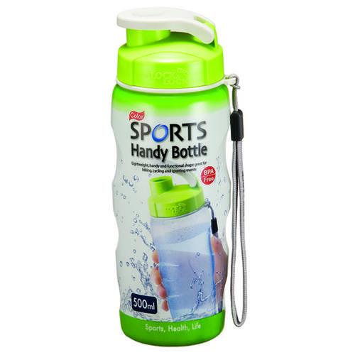 Lock & Lock Food Tupperware Air Tight Plastic Tub Sports Bottle Green - 500 ML