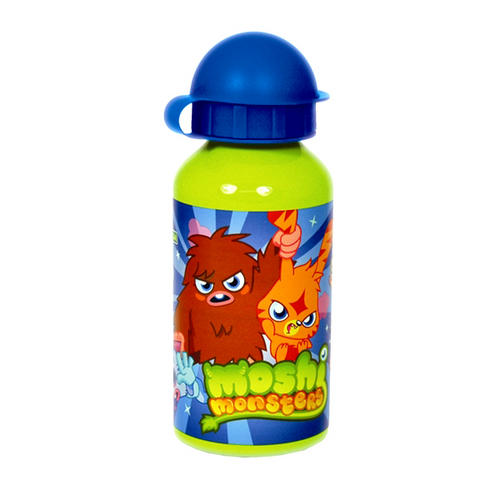 Moshi Monsters Boys Green Aluminium Water Drinks Sports Bottle
