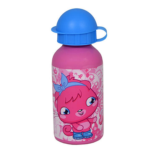 Moshi Monsters Pink Poppet Aluminium Water Drinks Sports Travel Bottle
