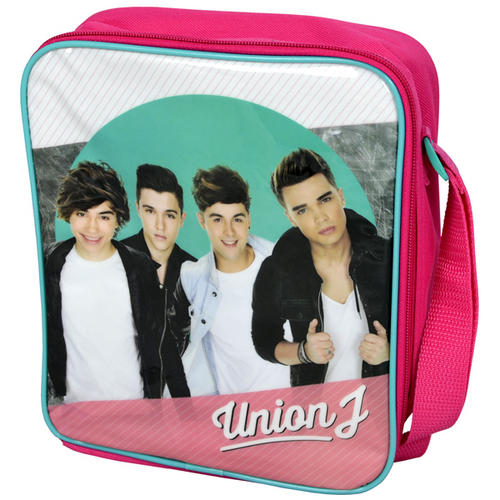 Union J Pink Insulated School Lunch Bag Sandwich Snack Box