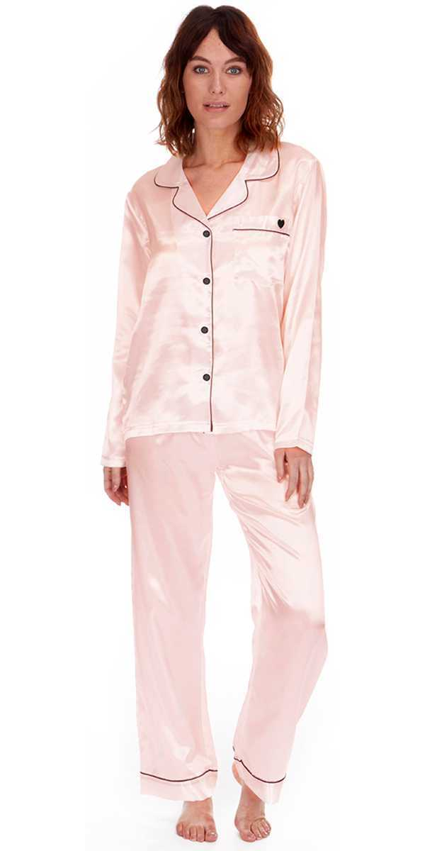 9a835bc253 Ladies Satin Silk Pyjama Set Silky Lounge Pajamas Dressing Gown Robe Summer  New