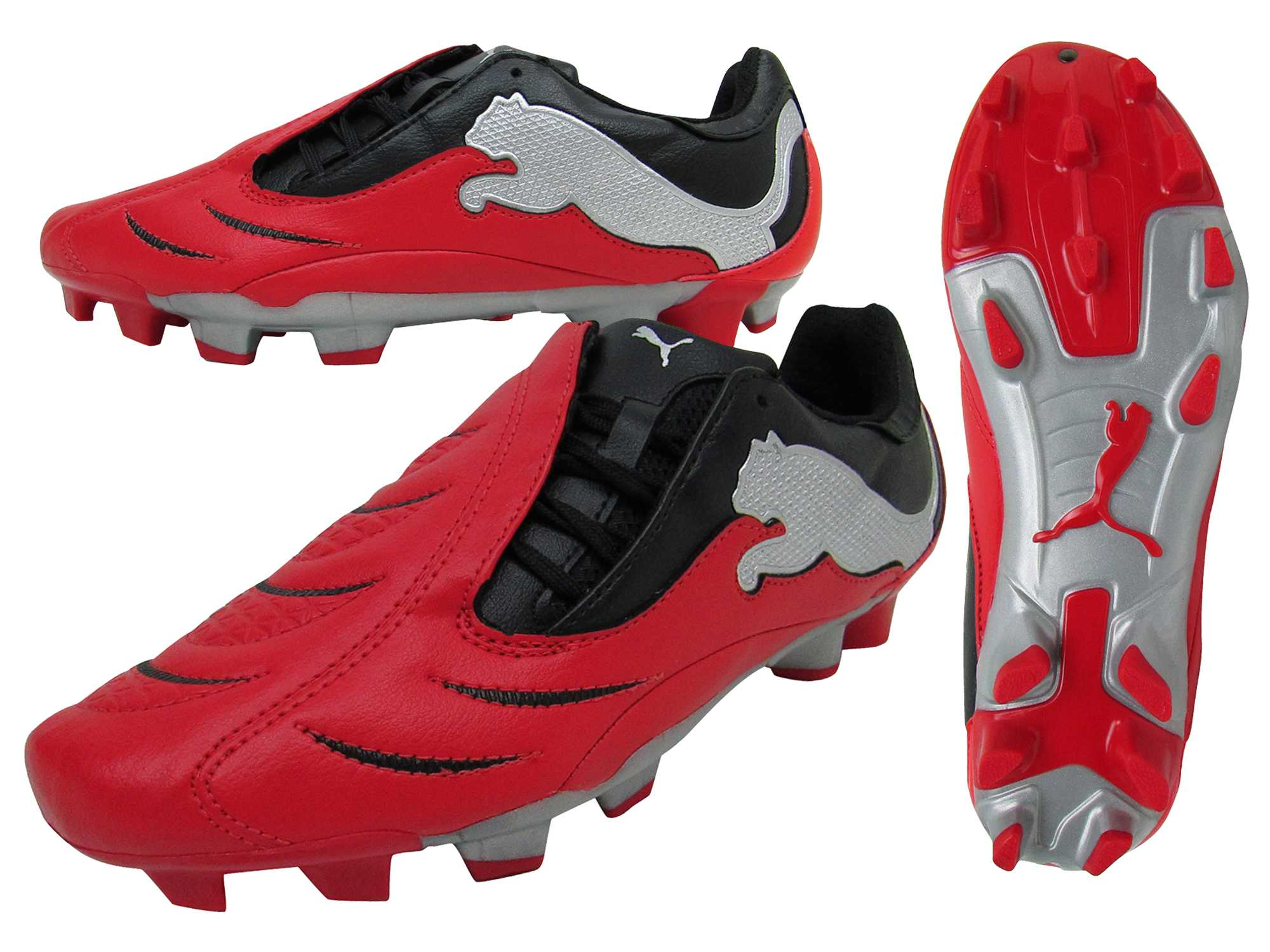 aa3fe53184de Mens Puma Powercat 3.10 FG Red Football Boots Soccer Firm Ground Boot  101906 New