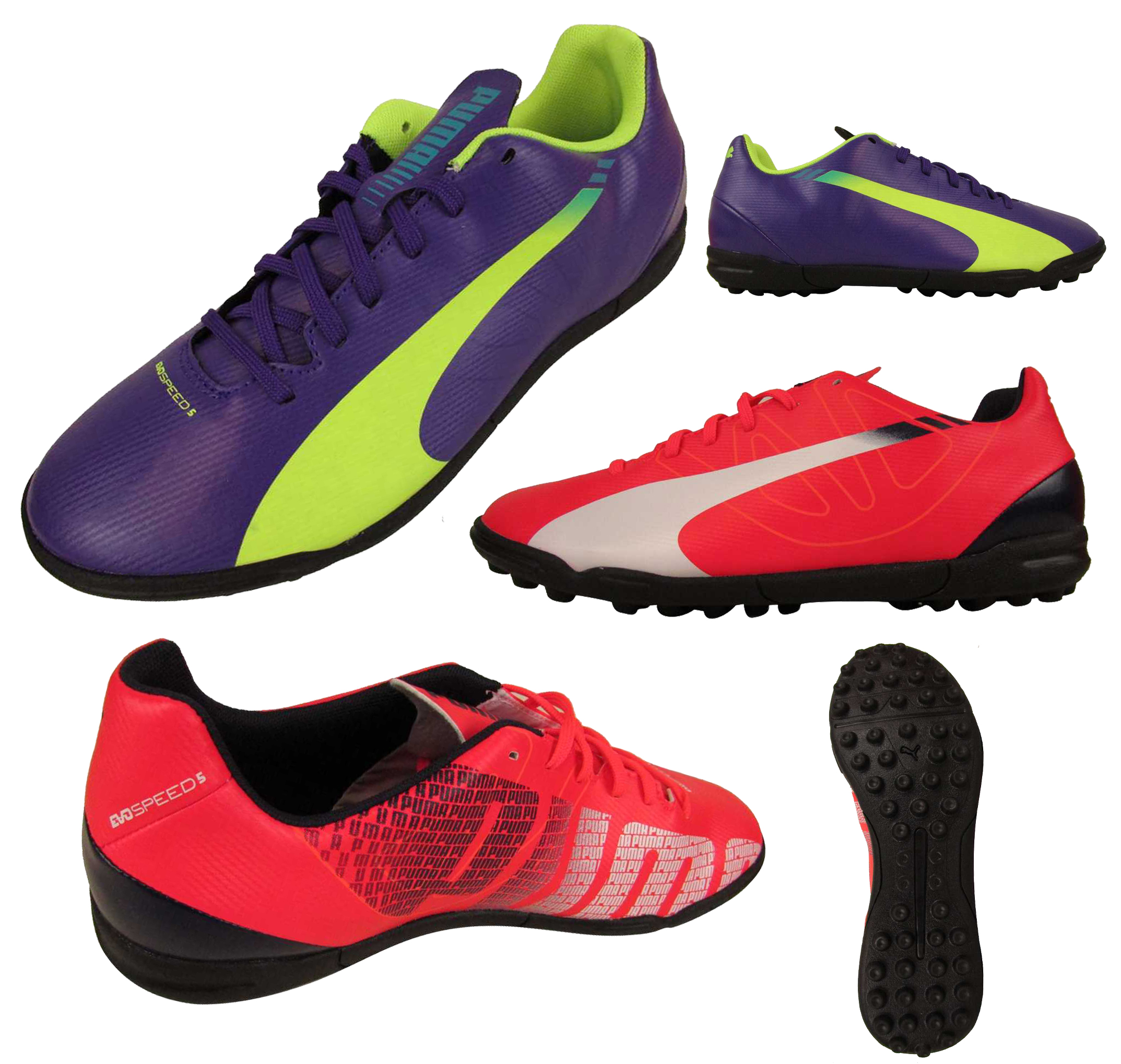 Mens Puma evoSPEED 5.3 TT Football Astro Turf Trainer Soccer Trainers  Astros New a2eaad24e