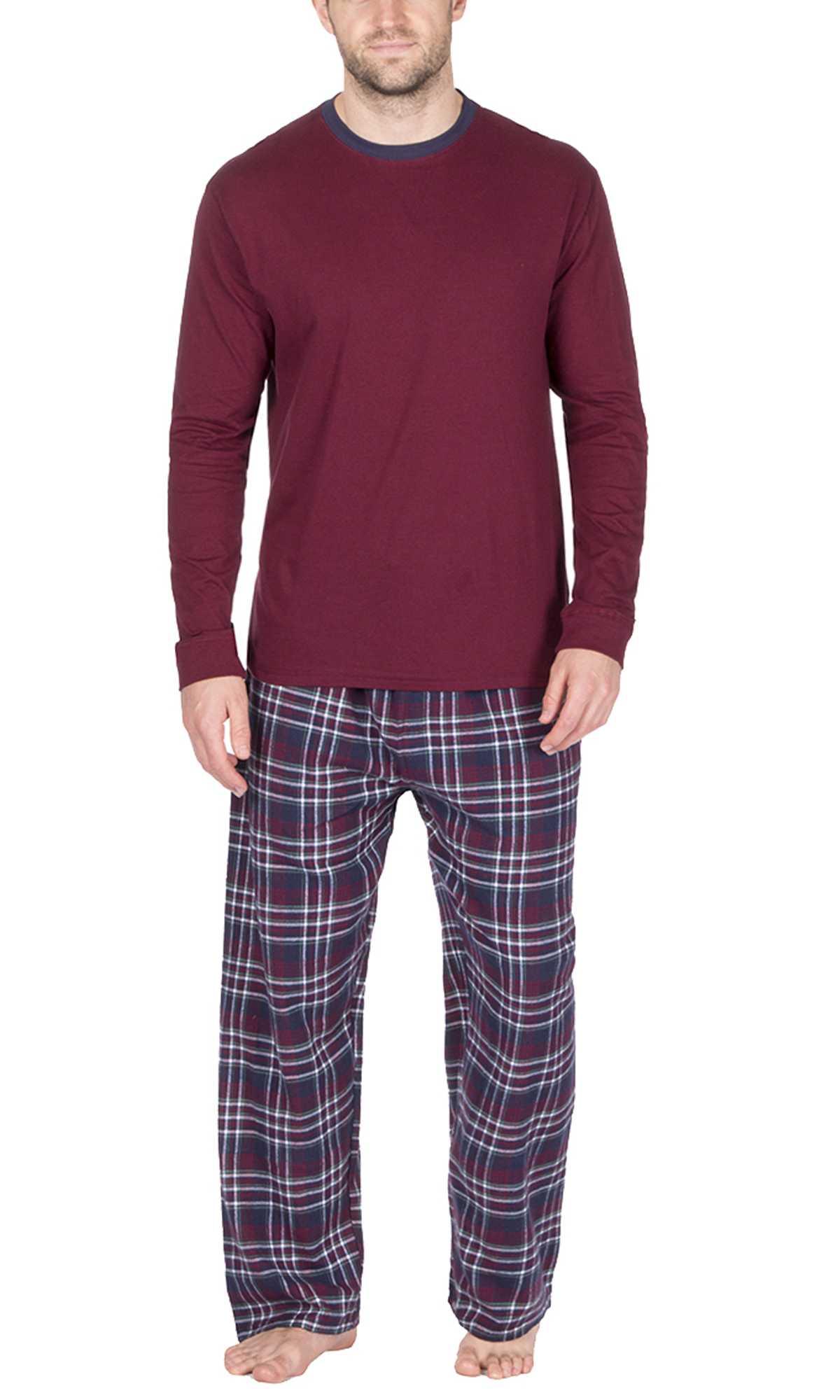 1d29a6677b Mens Warm Fleece Jersey Winter PJ Pyjama Set Night Wear PJ s Pyjamas Sets  Gents
