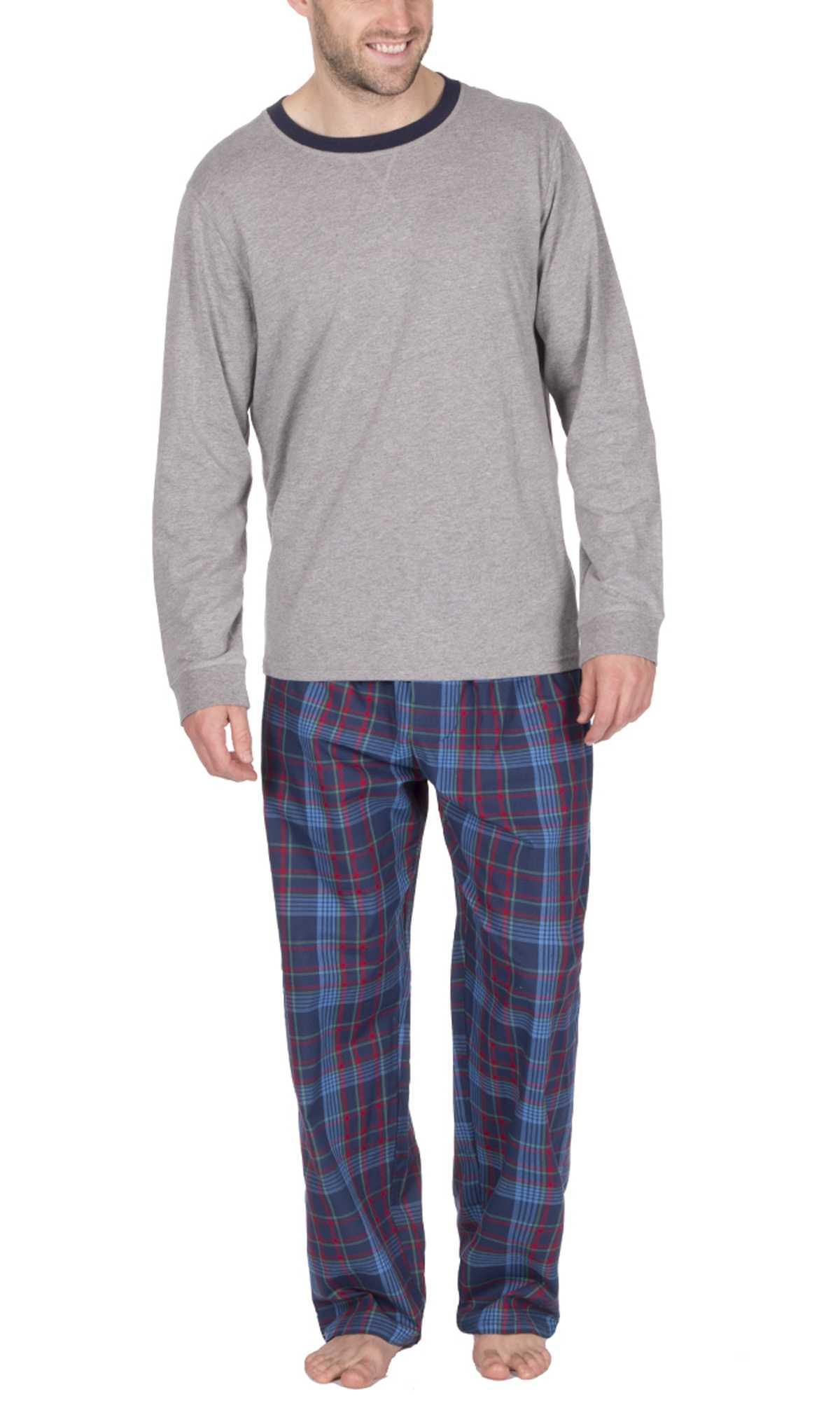 Mens Warm Fleece Jersey Winter PJ Pyjama Set Night Wear PJ\'s Pyjamas ...
