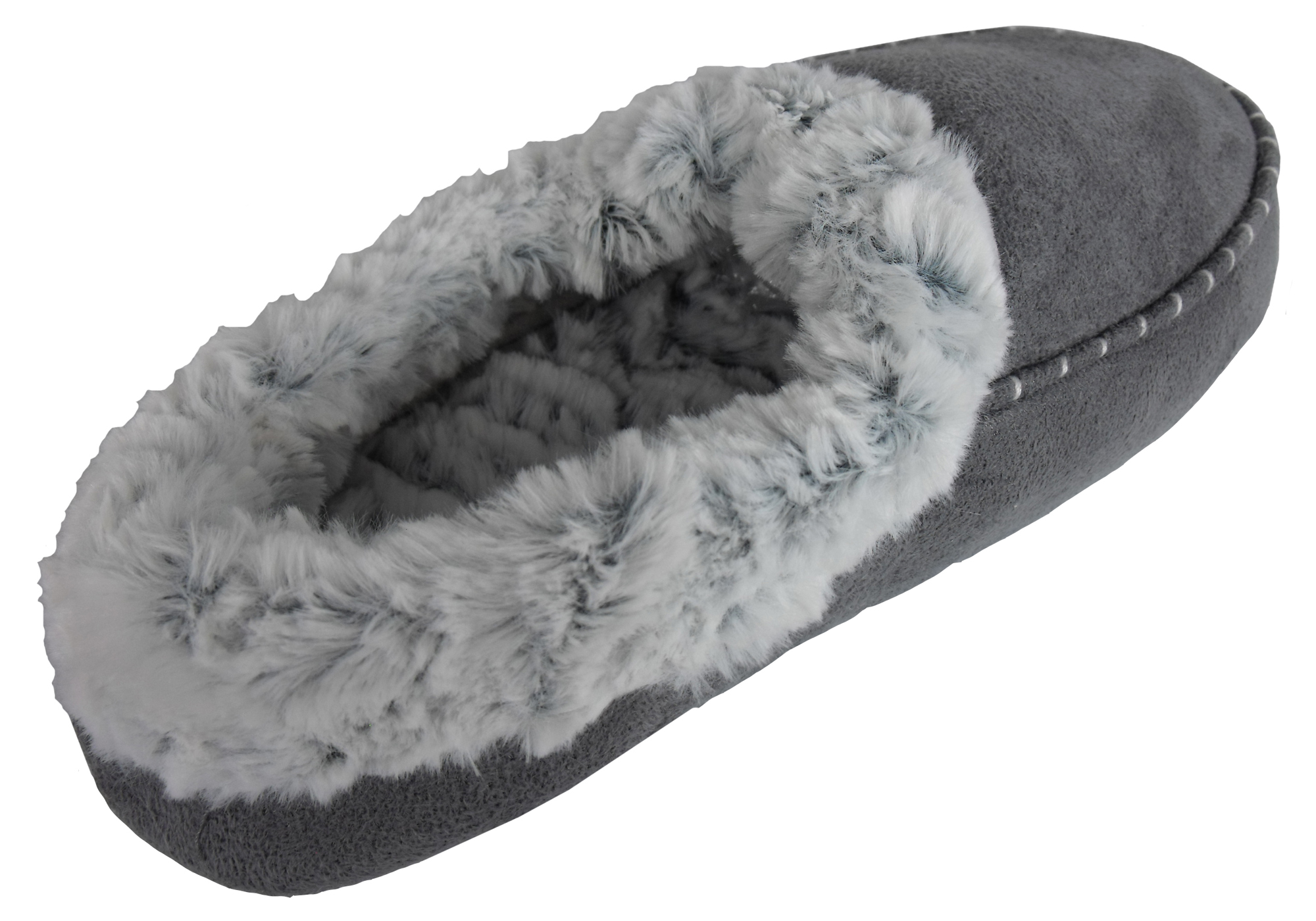 Ladies Womens Faux Suede Moccasin House Slippers Moccasins