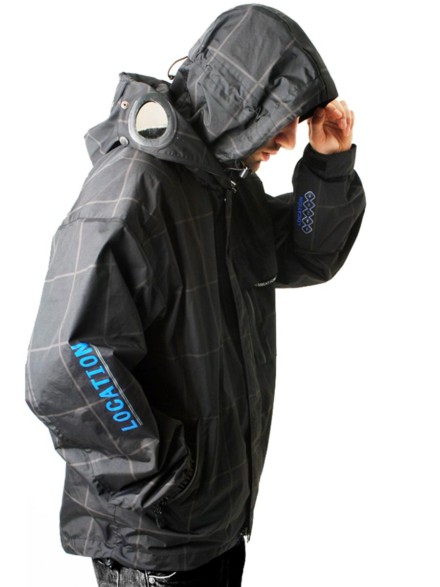 Homme localisation goggle recco ipod à capuche manteau veste imperméable imperméable carreaux