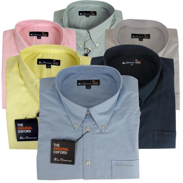 Mens Ben Sherman Oxford Eton Smart Long Sleeve Shirt King Big Sizes ...