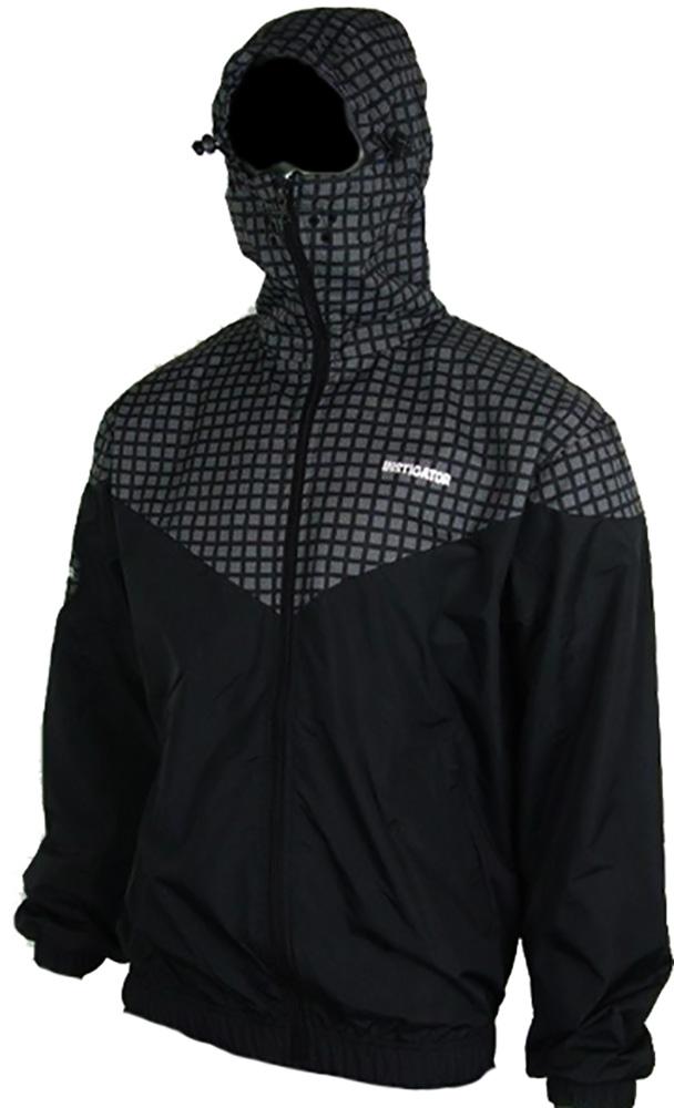 Instigator Mens Boys Black Bomber Rain Jacket Hooded
