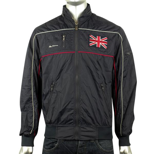 89aa37ba7d5 Details about Mens Ben Sherman Union Jack logo Bomber Jacket Racer Mod  Indie Hooded Coat S M L