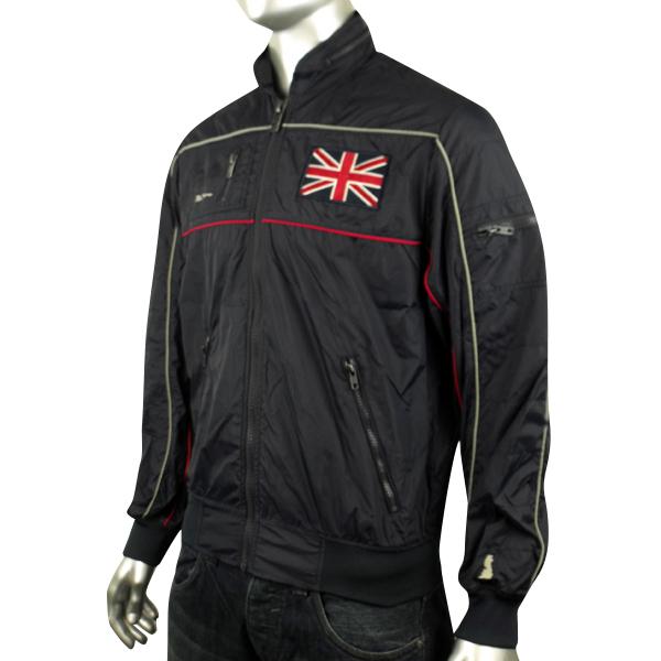 192b5b1c627 Mens Ben Sherman Union Jack logo Bomber Jacket Racer Mod Indie Hooded Coat  S M L