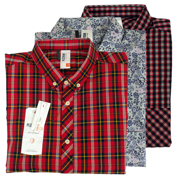 Mens Ben Sherman Plectrum Soho Slim Fit Short Sleeve Shirt Size S ...