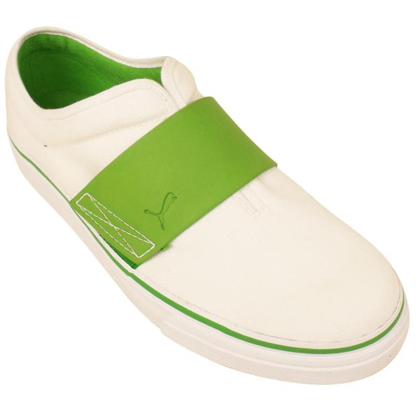 Mens Puma El Rey White Green Trainer