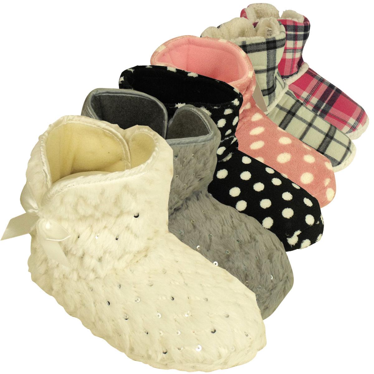large choix de designs Vente de liquidation 2019 faire les courses pour Détails sur Femme qualité fourrure chausson bottines slipper femmes  esquimaux pantoufles tailles 3-8- afficher le titre d'origine