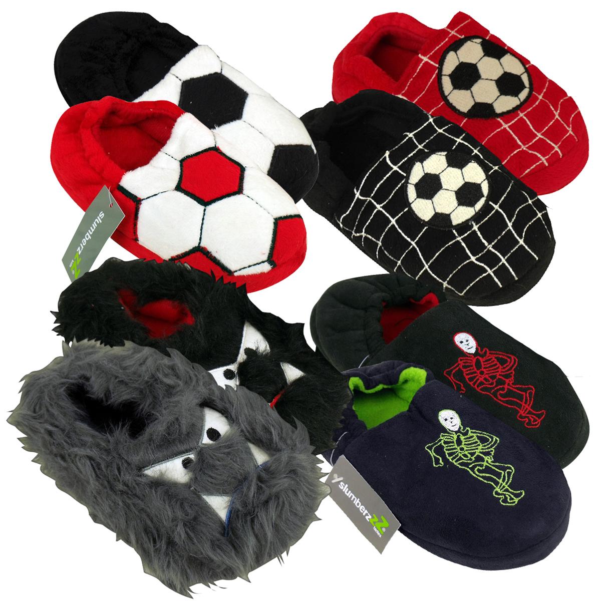 Boys Football Childrens Slipper Kids