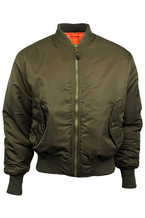 Mens Location MA1 Pilot Military Army Flight Bomber Jacket Original Combat Coat