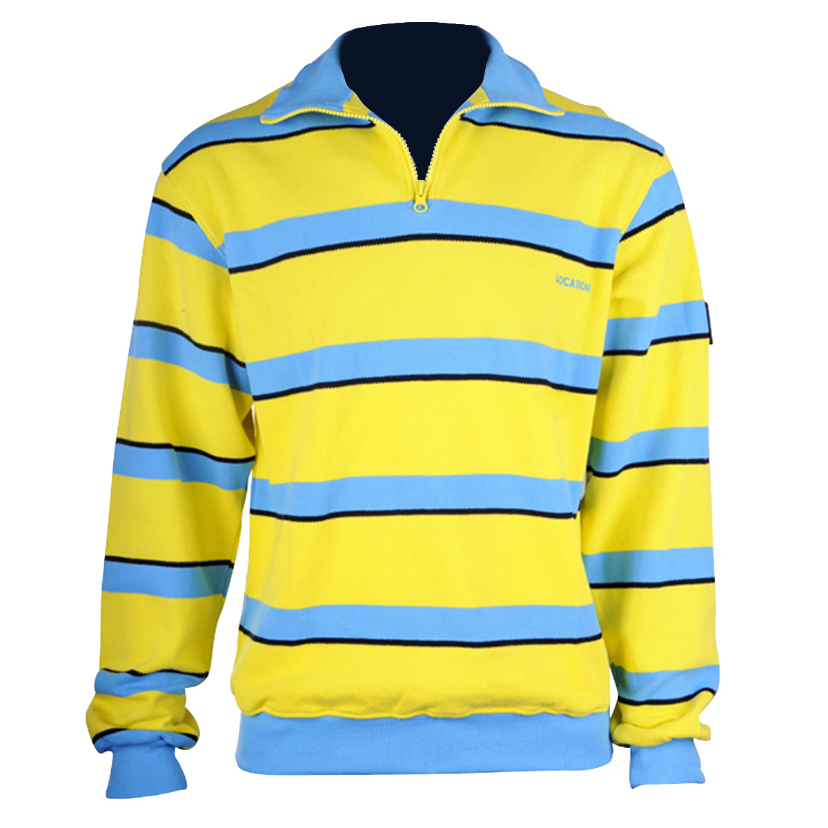 Boys Kids Junior Zip Neck Jumper 100% Cotton Stripe Sweater ...