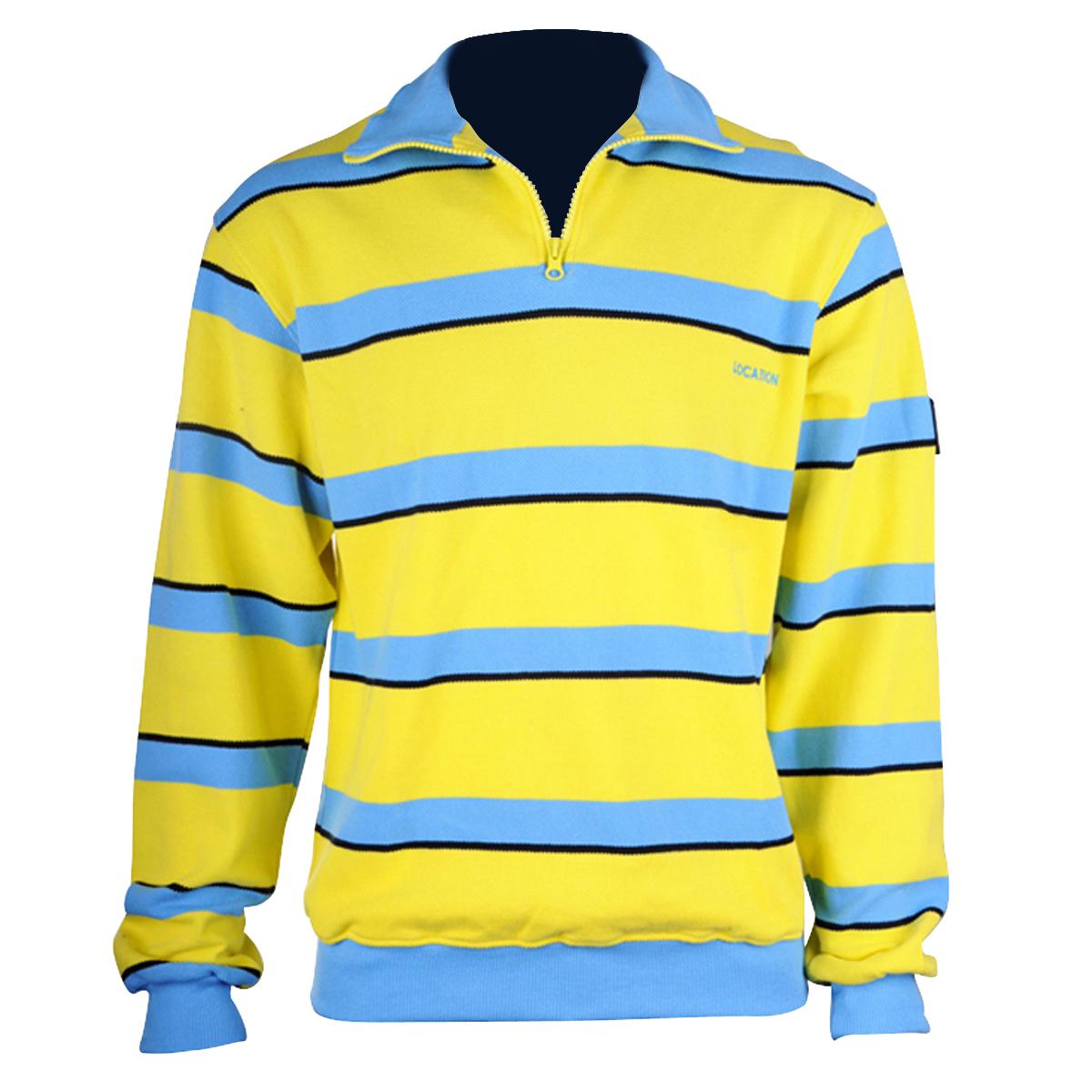 Boys Kids Junior Zip Neck Jumper 100 Cotton Stripe Sweater Designer