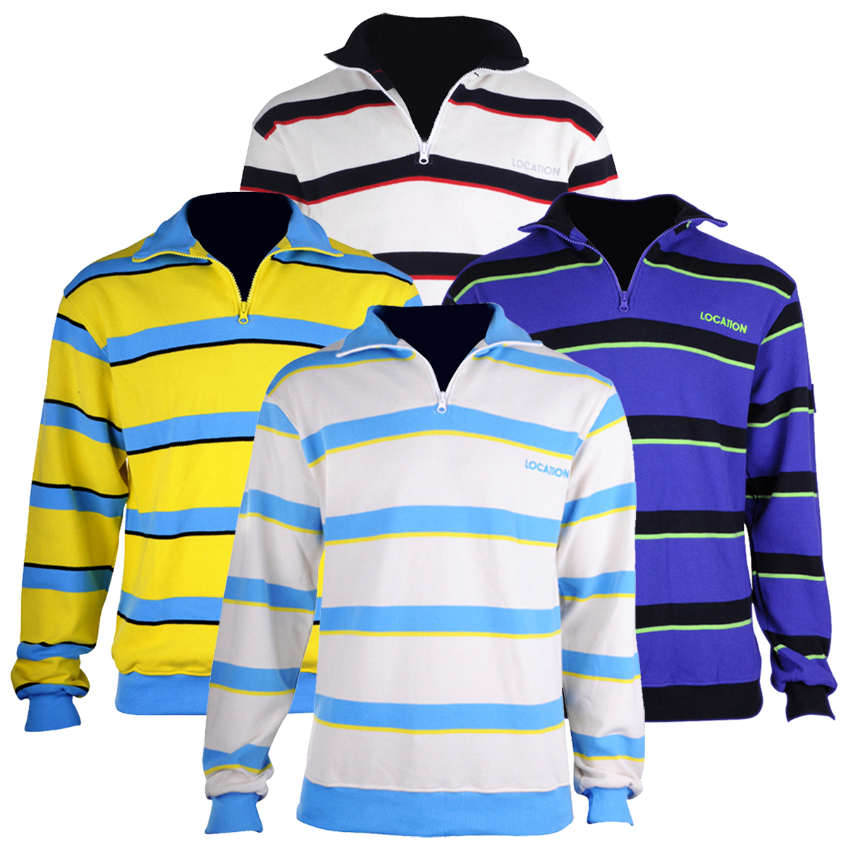 Boys Kids Junior Zip Neck Jumper 100/% Cotton Stripe Sweater Designer Quality