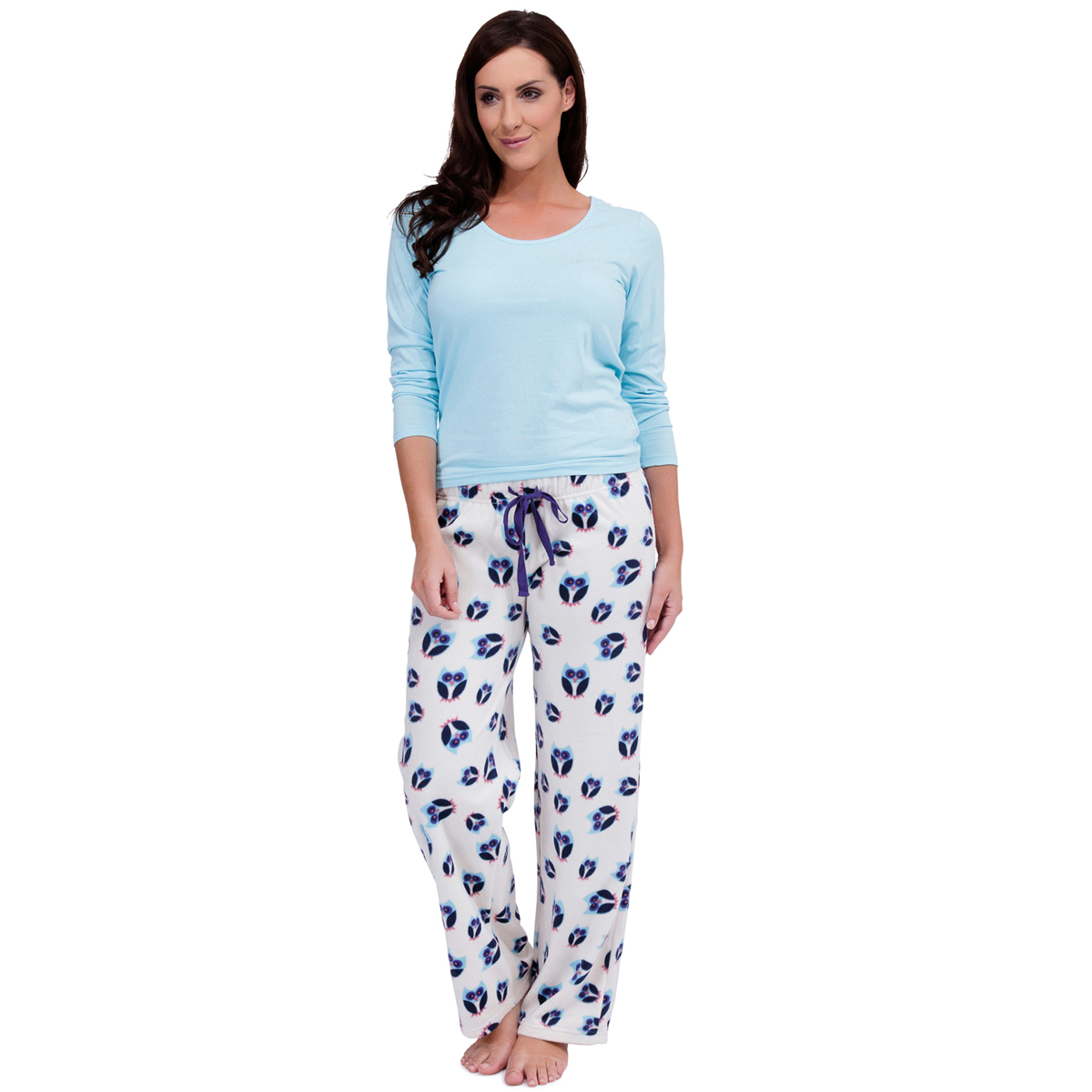 Womens Warm Fleece Winter PJ Pyjama Set Night Wear PJ s Pyjamas Sets Ladies   e3e90ca4d