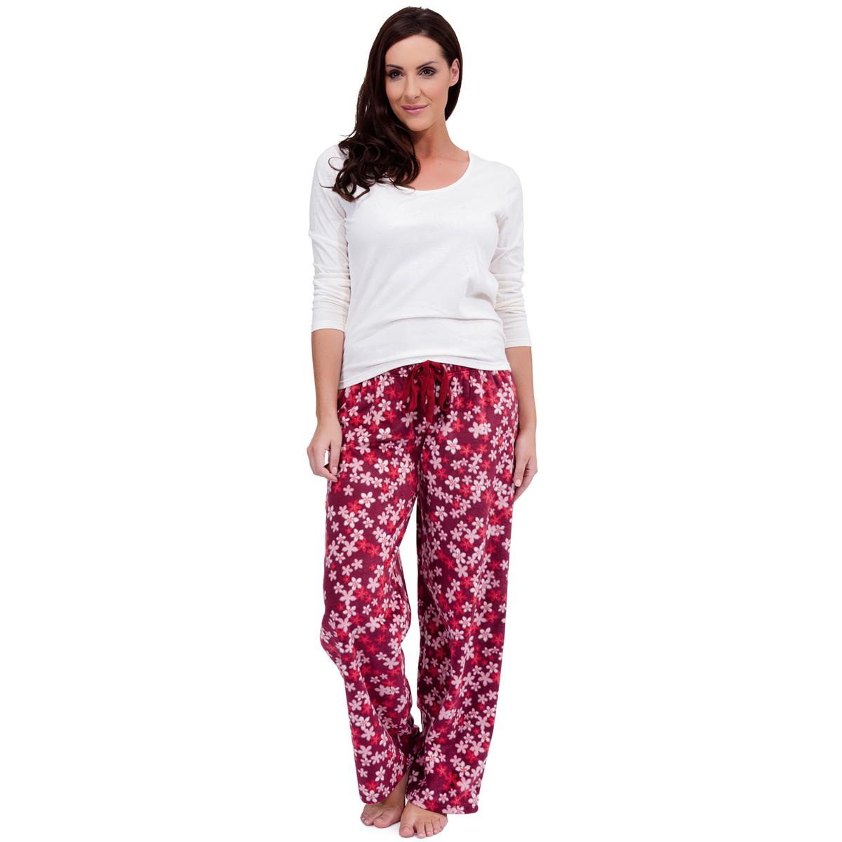 0160d7f8d8 Womens Warm Fleece Winter PJ Pyjama Set Night Wear PJ s Pyjamas Sets Ladies