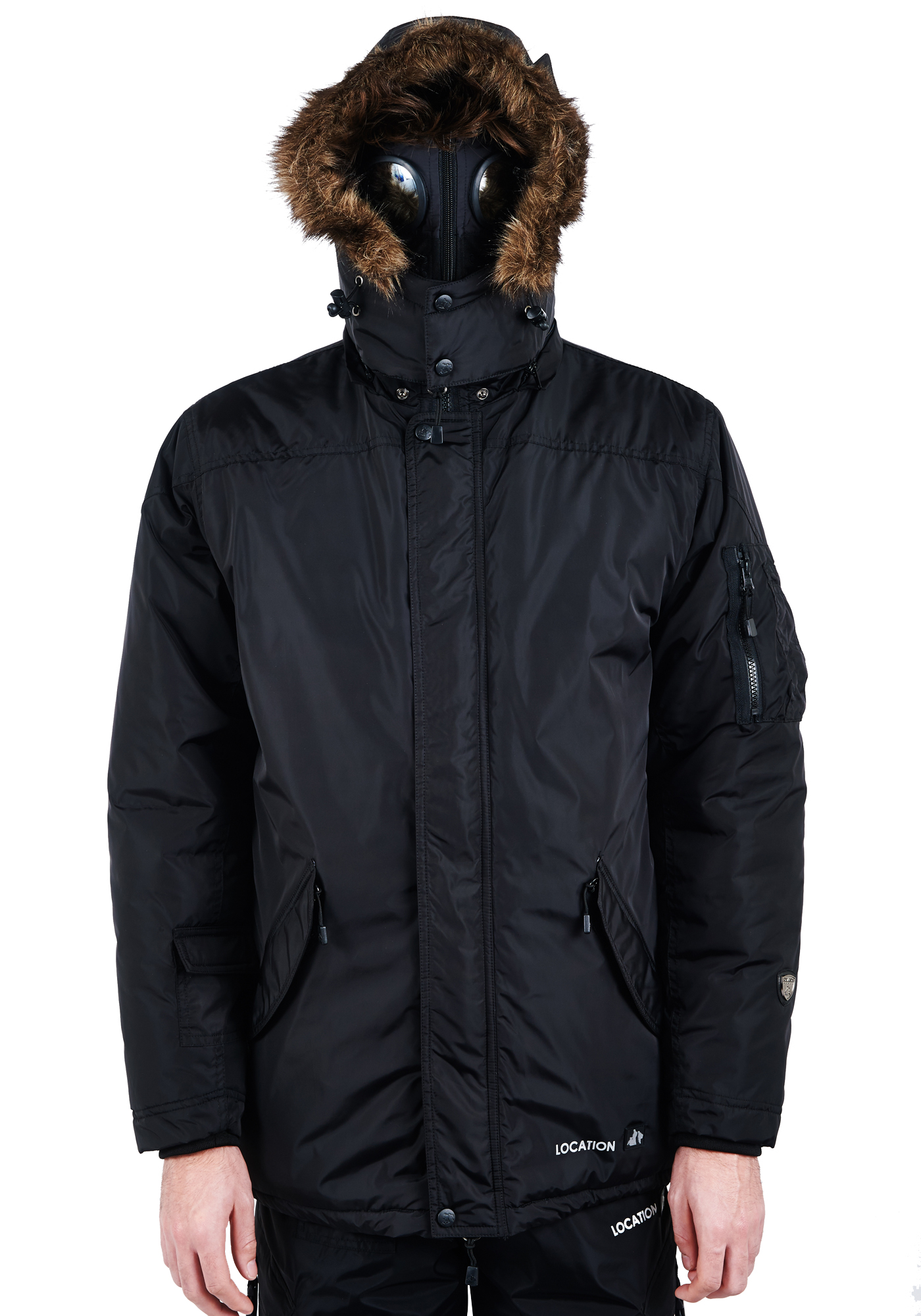 0e19833f49d63 Mens Location Hunter Krigs One-10 Parka Jacket Waterproof Goggle Coat Winter