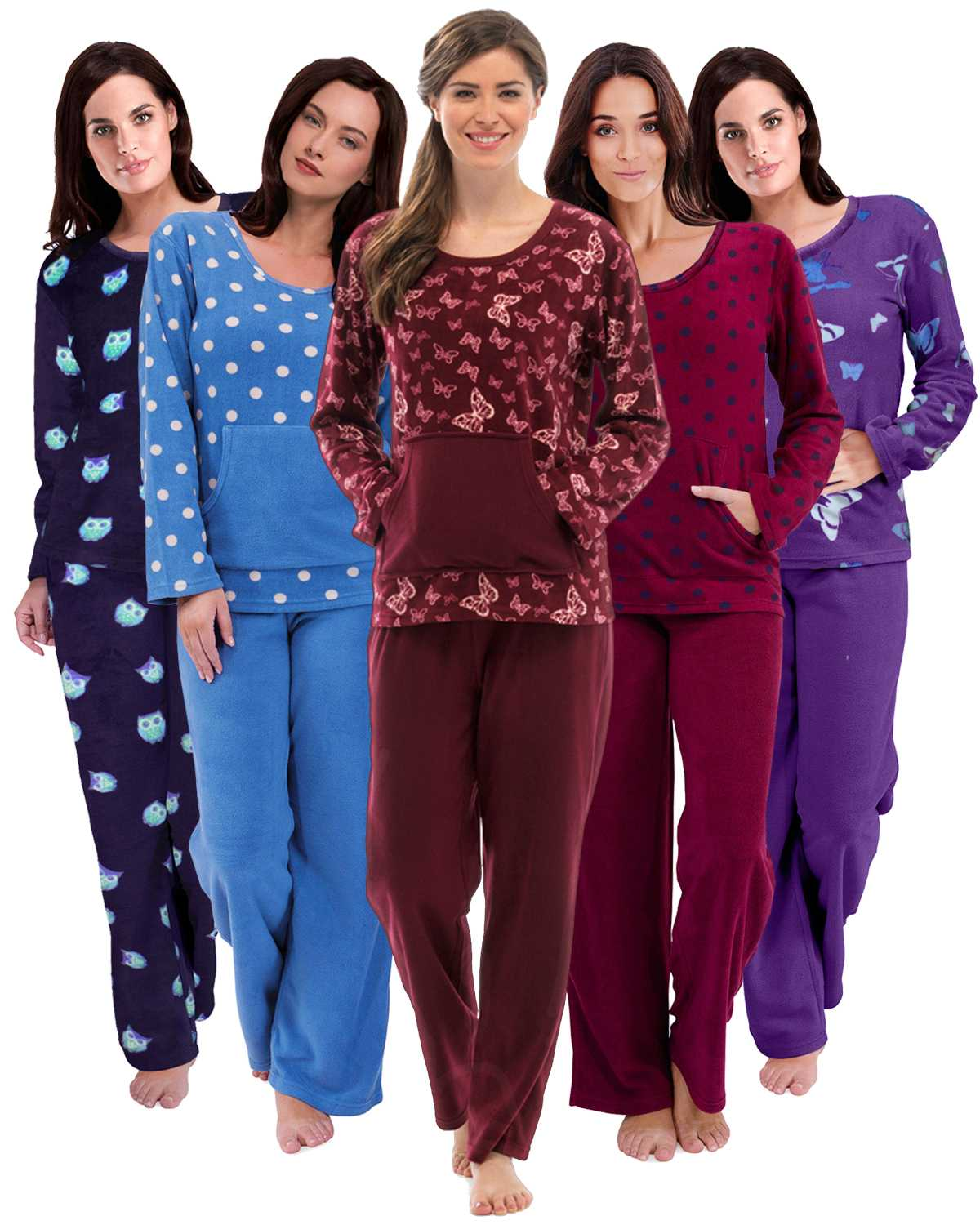 08e56f6f5c Details about Womens Warm Fleece Winter PJ Pyjama Set Night Wear PJ s  Pyjamas Sets Ladies New