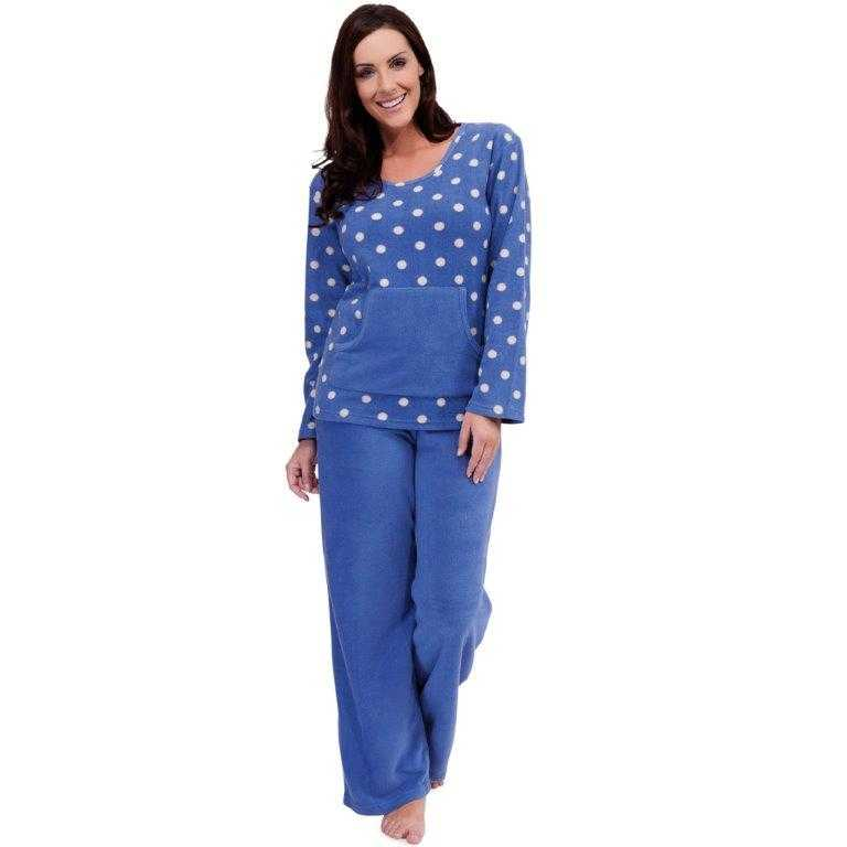 femmes toison chaud d 39 hiver pj pyjama nuit wear pj de pyjamas ensembles dames ebay. Black Bedroom Furniture Sets. Home Design Ideas