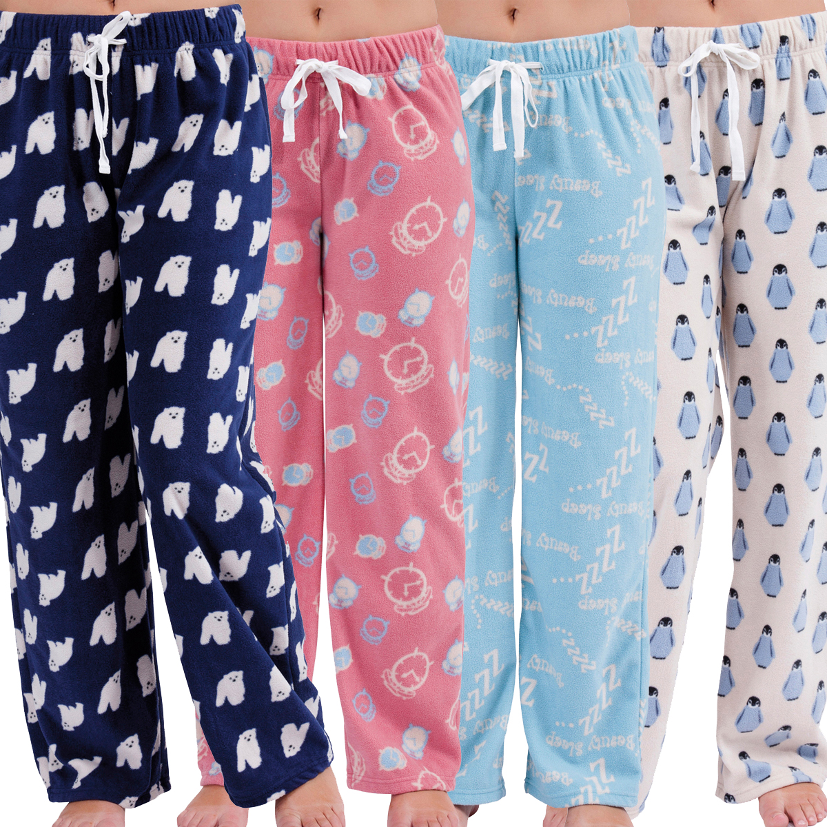 c76399d504 Womens Lounge PJ Pyjamas Pants Warm Fleece Night Wear PJ's Pant Pyjama  Ladies