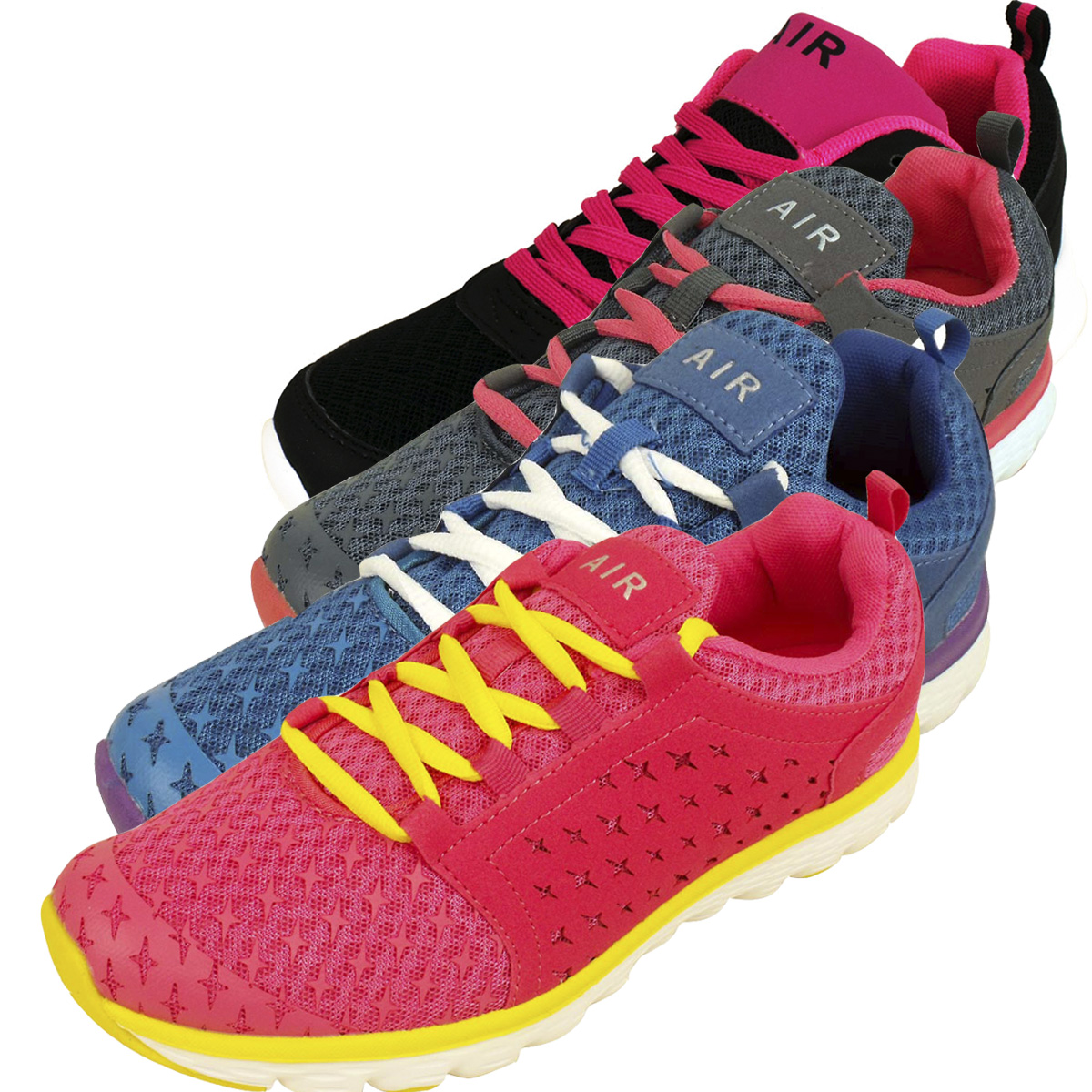 4a42e7743e46 Womens Shock Absorbing Running Shoes Trainers Ladies Gym Shoe ...