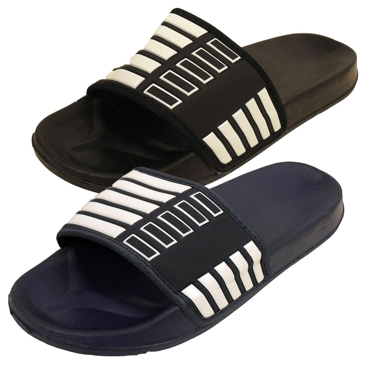 903d031f689 Mens Slide Mules Sandals Pool Beach Water Flip Flop Flops Sandal Shower  Shoes
