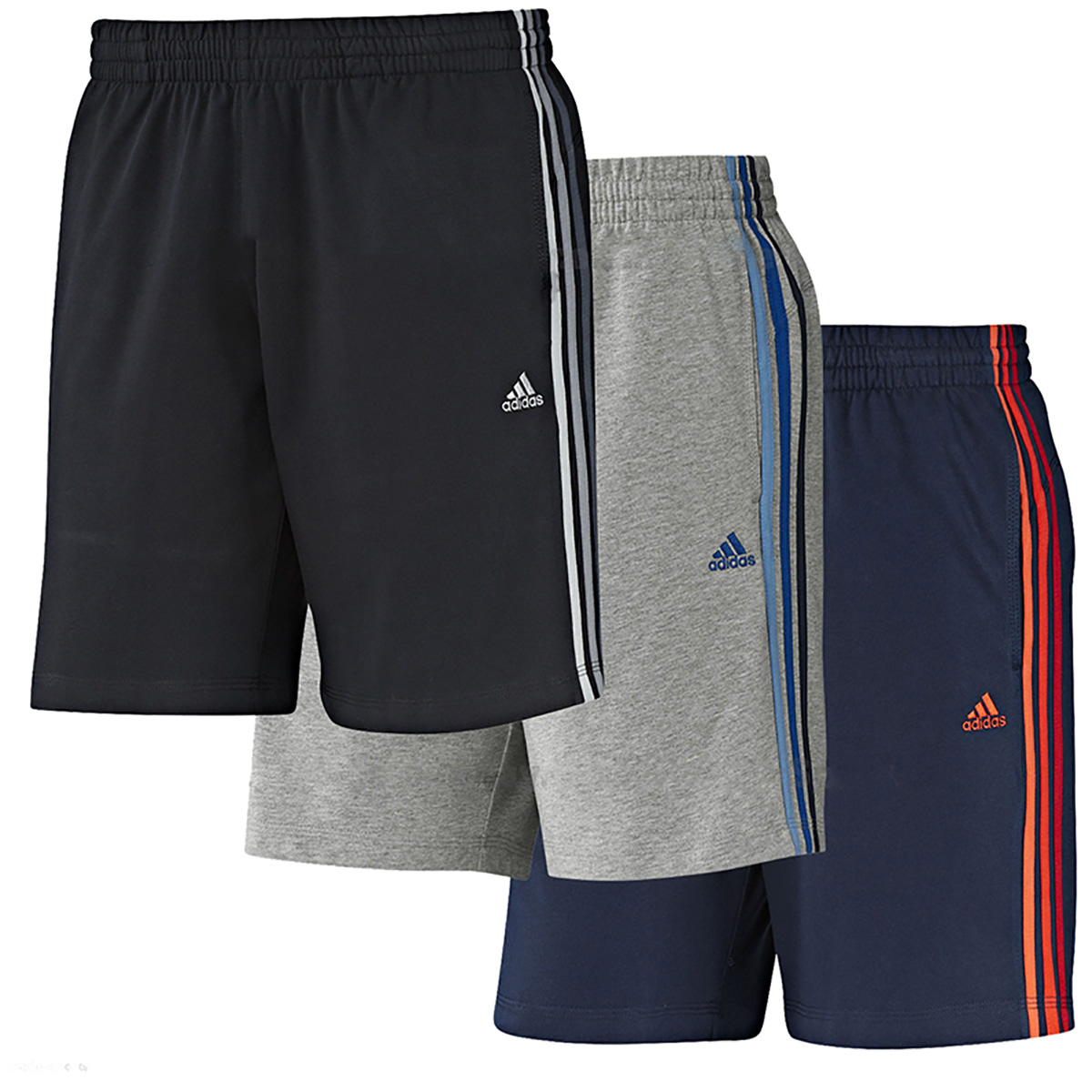 Details about Mens Adidas Clima 365 Performance Ess Cotton Jersey Shorts Summer Knee Short