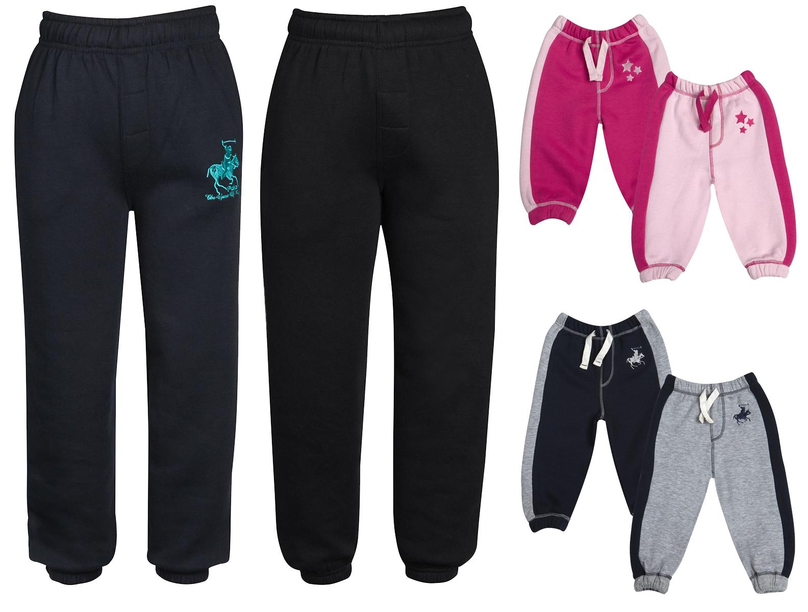 9adc13d2 Boys Girls Joggers Jogging Pants Fleece Tracksuit Bottoms PE School Kids  Sizes | eBay