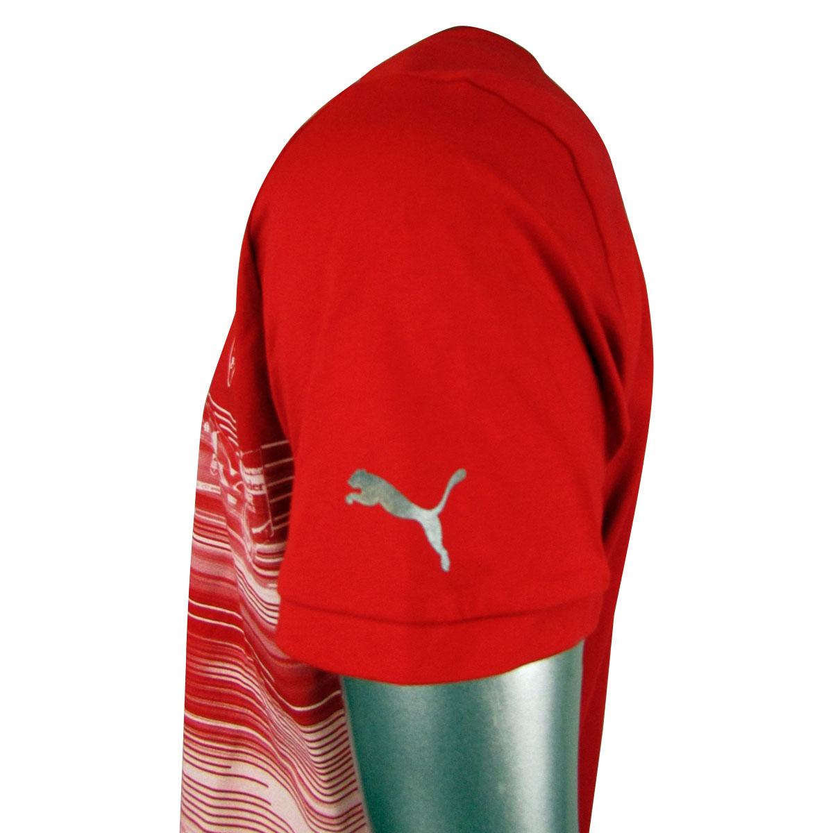 34b08154c206 Mens Puma SF Scuderia Ferrari Formula 1 One Replica T-Shirt Top Graphic Tee