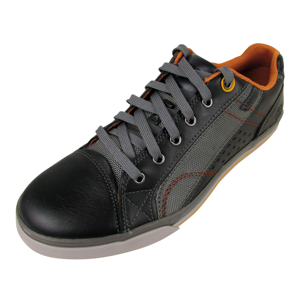 35be14c6606e Mens Skechers Leather Sneakers Trainers Memory Foam Trainer Lace Up Shoes  New