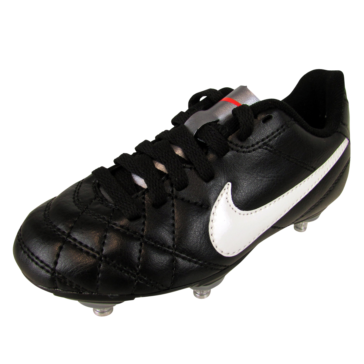 separation shoes 3f845 1ce79 Details about Boys Nike Tiempo Rio Black SG Soft Ground Football Boots  Junior Sizes Kids JR
