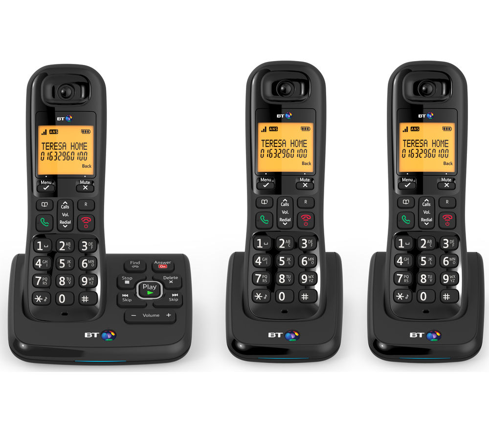 BT XD56 Trio Cordless Home Office Phone With Nuisance Call