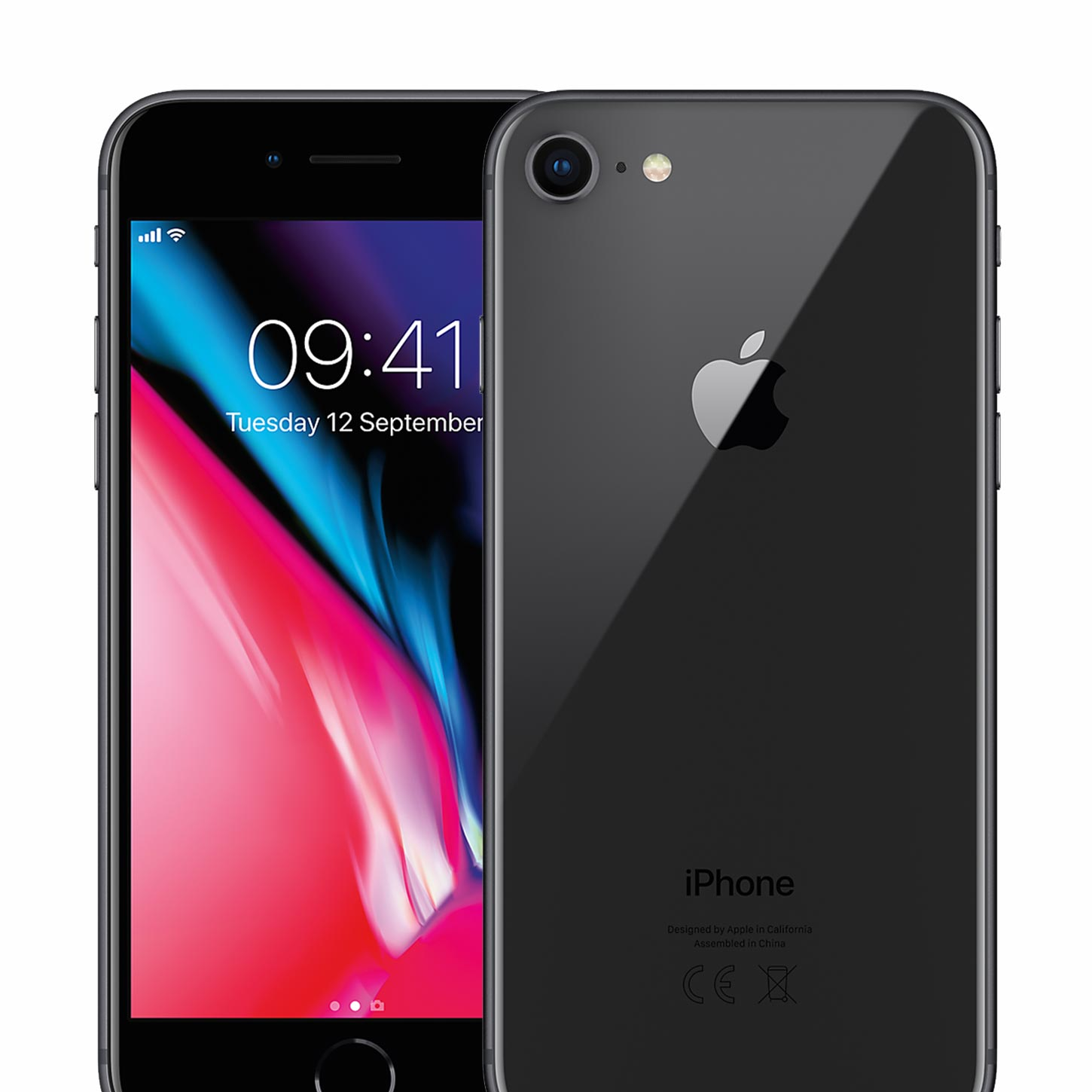Apple Iphone 8 64gb Space Grey Sim Free Unlocked Smartphone 6 Refrubish Tempered Glass Refurbished
