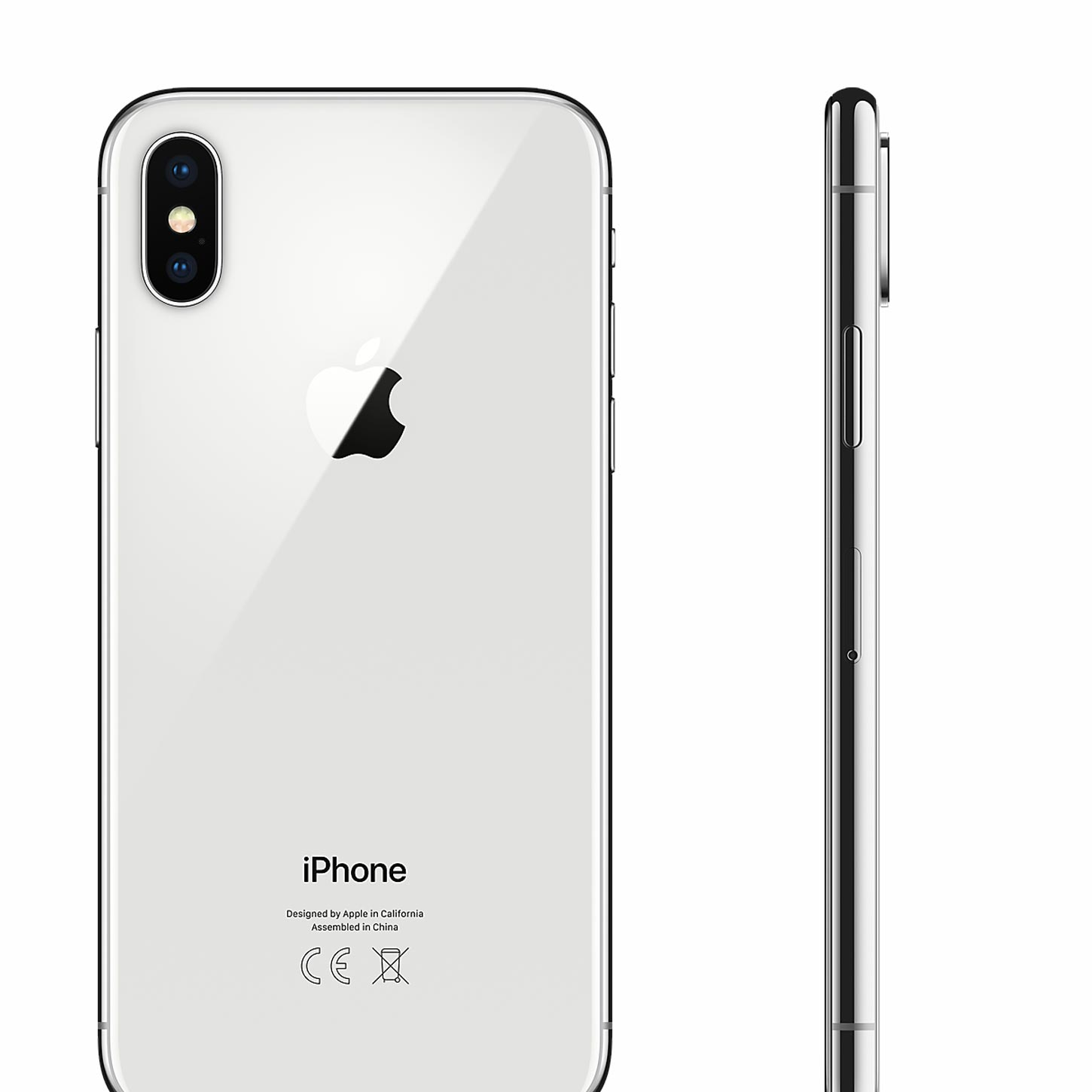 Apple Iphone X 64gb Silver Sim Free Unlocked Refurbished Smartphone 6 Refrubish Tempered Glass